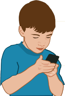 kid texting pediatrics
