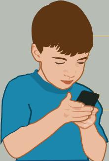 kid texting pediatrics