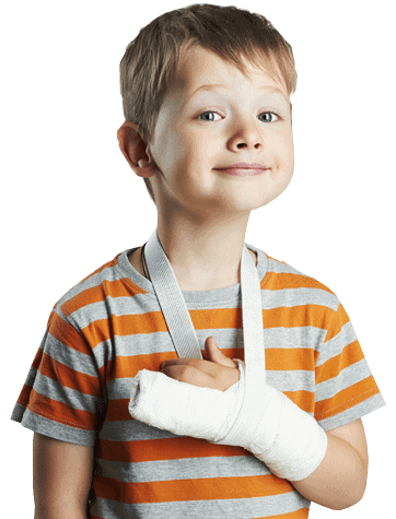 boy arm cast