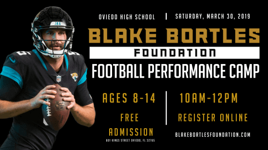 Blake Bortles Foundation Football Camp