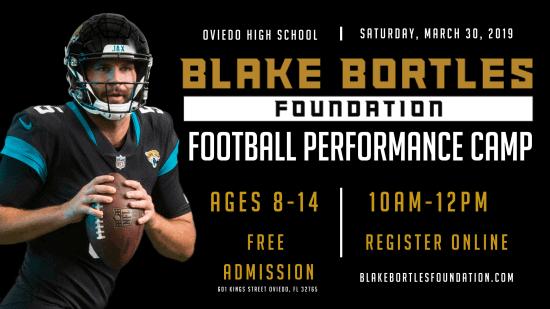 Blake Bortles Foundation Football Camp