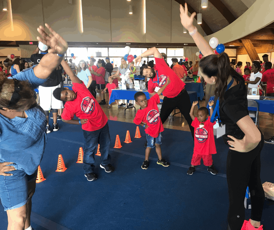 4th Annual Family Fitness Fest Stretch