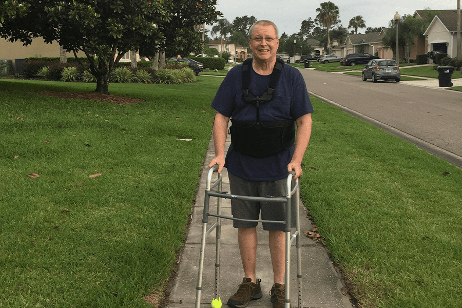 Patient enjoys improved mobility after his Laminectomy surgery